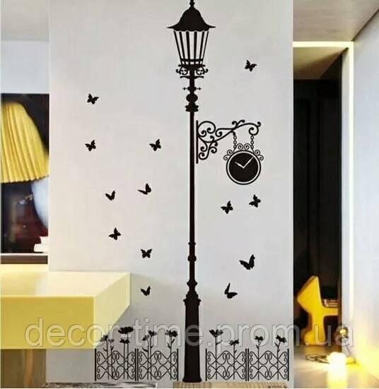 Интерьерная декоративная виниловая наклейка на стену Фонарь (653013)
