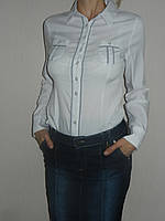 Рубашка школа белая стрейч р. 42-50 Mingtao 3246