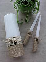 Свечи в стиле Рустик на свадьбу