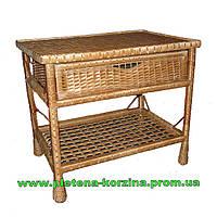 Плетеный Стол с шуфлядой Арт.1248
