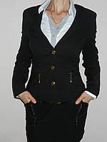 Пиджак школьный на девочку стрейч черный р. 42-50 H906