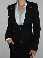 Пиджак школьный для девочки стрейч черный р. 42-50 H907