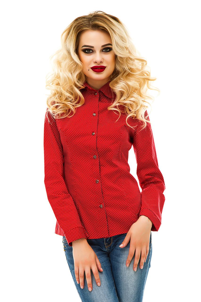 Рубашка 218 красная хлопок