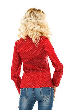 Рубашка 218 красная хлопок, фото 2