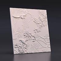 """Гипсовая 3D панель """" Птицы"""""""