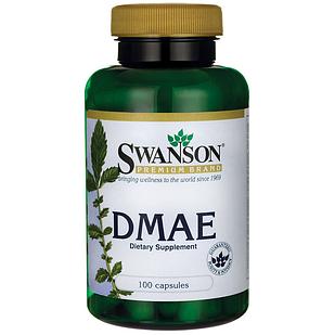 Swanson DMAE ДМАЭ комплекс + B5, B6  130 мг 100 капс США