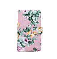 """Универсальный чехол книжка  5,5"""" (XXL) цветы"""