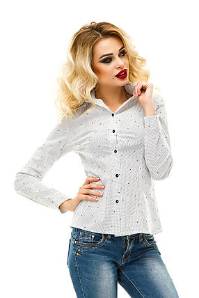 Рубашка 218 белая горох, фото 2
