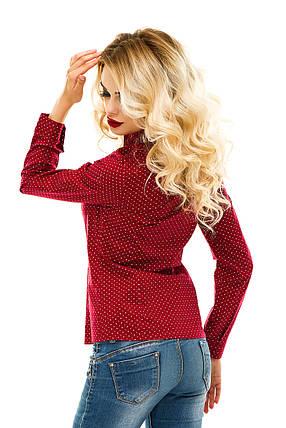 Рубашка 218 бордовая, фото 2