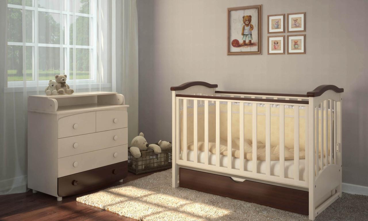 кроватки для новорожденных с комодом фото и цены