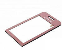 Тачскрин для SAMSUNG S5230 Star розовый со скотчем на стеклянной основе