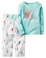 Флисовая пижама Картерс с хлопковой кофтой «Весёлая фея»