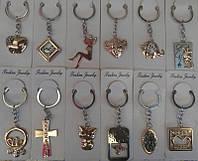 Брелки для ключей  21-15 золото-серебро со стразами