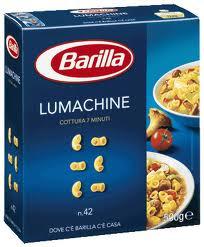 Макароны твердых сортов Barilla «Lumachine» n. 42, (итальянские макароны барилла) 500 гр.