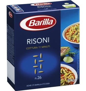 Макароны твердых сортов Barilla «Risoni» n. 26, (итальянские макароны барилла) 500 гр. - Продукты из Италии - интернет магазин «Market IT» в Львове