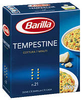 Макароны твердых сортов Barilla «Tempestina» n. 21, (итальянские макароны барилла) 500 гр.