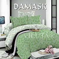 Полуторні комплекти постільної білизни Viluta поплін Дамаск