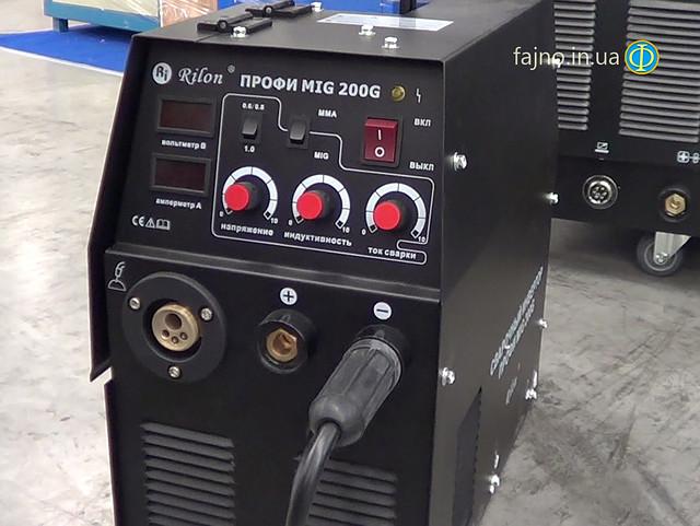 Инверторный сварочный аппарат сварки проволокой Профи MIG 200 G Rilon (сварка проволокой и электродами)