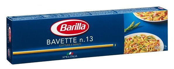 Макароны твердых сортов Barilla «Bavette» n. 13, (итальянские спагетти барилла) 500 гр.