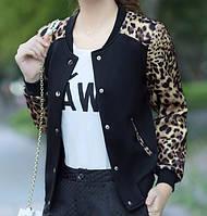 Куртка бомбер черный (леопард), фото 1