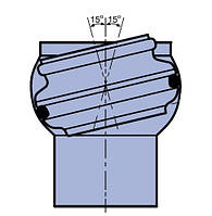 Муфта регулируемая +/- 15° для седловых патрубков Ø160