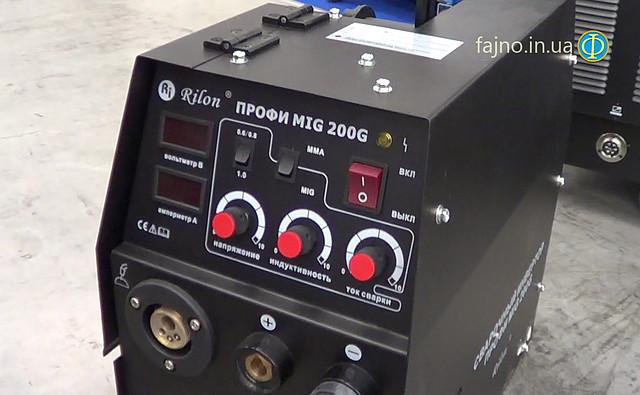 Сварочный полуавтомат Rilon MIG 200 MMA Профи (2 в 1, сварка проволокой и электродами)