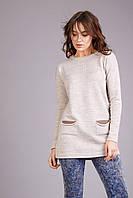 Женская туника с цельновязанными карманами, фото 1