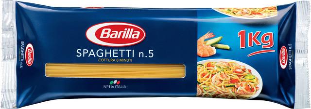 Спагетти твердых сортов Barilla «Spaghetti» n. 5, (итальянские спагетти барилла) 1 кг.