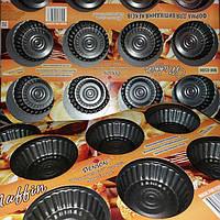 Металлическая форма для выпечки кексов 12 шт