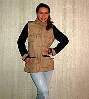 Куртка STEVE MADDEN  Militaryс кожаными рукавами (S/M)