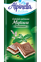 Шоколад молочный Alpinella Mietowa 90г