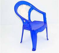 Детский синий стульчик