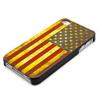 Чехол для iPhone 4/4S - Американский флаг - ретро стиль