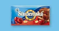 Шоколад молочний Studentska Pecet з вишнею 180г