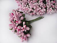 Тычинки на веточках (незабудки) розовые