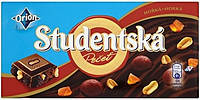 Шоколад чорний Studentska Pecet з з арахісом, желе і родзинками 180г