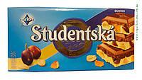 Шоколад молочно-білий Studentska Pecet Duomix 180г