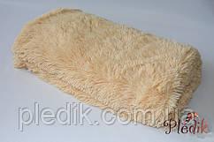 Плед меховой с длинным ворсом 220х230, Alltex песочный