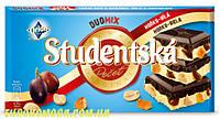 Шоколад Studentska Pecet Duomix чорний з білим 180 гр