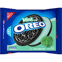 Nabisco Oreo Mint Creme Chocolate Sandwich Cookies 432 грамма