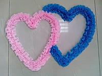 Свадебные сердца для украшения свадебного авто (розово-голубое)