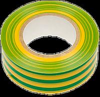 Изолента ПВХ 19мм/20м зелено-желтая TECHNICS