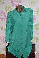 Рубашка женская зеленая