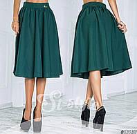 Женская юбка миди однотонная