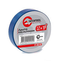 Лента изоляционная 0.15мм*17мм*10м синяя INTERTOOL IT-0010