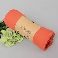 Модный женский воздушный шарф морковного цвета
