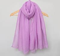 Модный женский воздушный шарф нежного сиреневого цвета