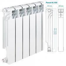 Радиатор алюминиевый отопления (батарея) 500x95 Tianrun (боковое подключение), фото 2