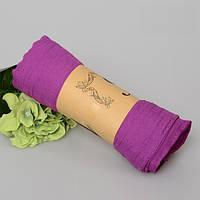 Модный женский воздушный шарф яркого фиолетового цвета