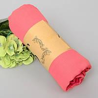 Модный женский воздушный шарф нежного кораллового цвета